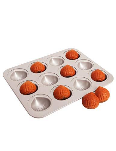 CHEFMADE 栗型マロンケーキ型 12ケ取 チョコレート金型 粘りにくいケーキ型