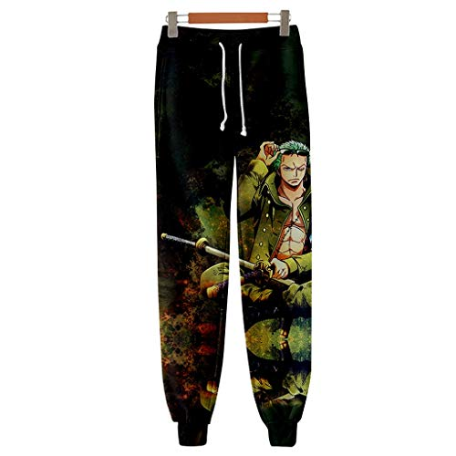 FunStation Anime One Piece Printed Cosplay Gym Joggers Casual Pants Trousers Drawstring Sports Sweatpants 03 M