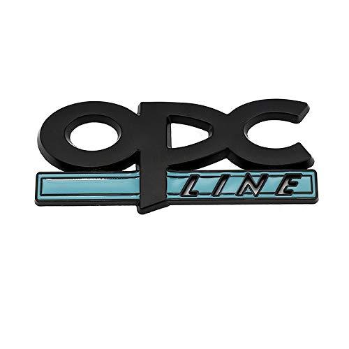 Emblemas de coches Pegatinas de automóvil de metal 3D Emblem Tail Badge Decal para Opel OPC Line Astra H G J K F Mokka Regal Zafira A B Corsa C D Insignia Vectra Emblemas ( Color Name : Black )