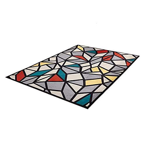 ZhongYi Minimalistische geometrie woonkamer 3D gedrukte tapijt nachtkleed tapijt antislip mat foyer Mat 120*160cm H