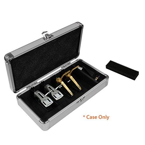 Odyssey Cases KCC4PR2SD   Silver Diamond DJ Turntable Needle Cartridge Protector Case