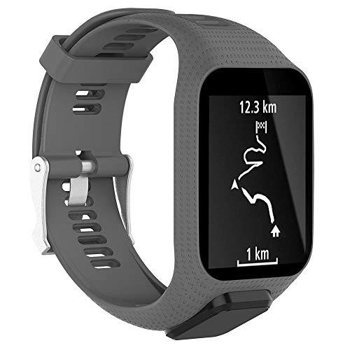 YASPARK Kompatibel mit Tomtom Runner 3 Armband/Runner 2/Spark 3/Adventurer/Golfer 2 Uhrenarmband, Silikon Uhrenbänder Ersatz Sportarmband für Tomtom Watch