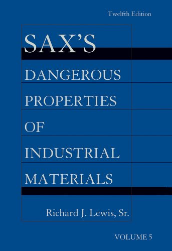 Sax's Dangerous Properties of Industrial Materials: 5 Volume Set, Print and CD Package