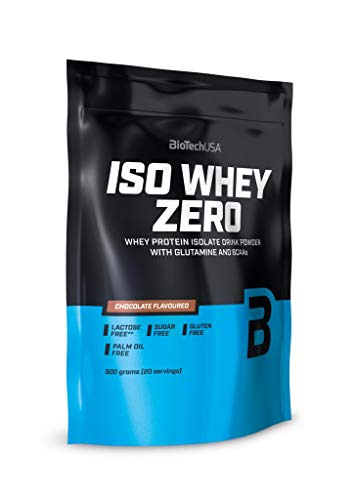 BioTech USA Iso Whey Zero Xmas Edition Package of 1 x 500g – Whey Protein Isolate Drink Powder with Glutamine and BCAAs – Sugar and Gluten Free – Palm Oil Free (Gingerbread (Christmas Special))