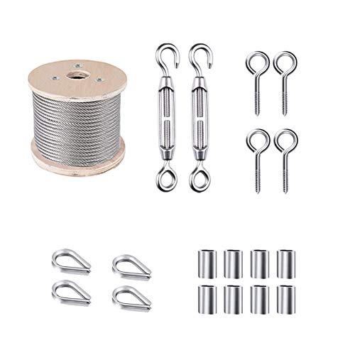 Tensores Alambre,Cables de Acero PVC Revestida,Casquillo Aluminio,Tensor,Cable de Acero Inoxidable,Alambre de Acero Inoxidable