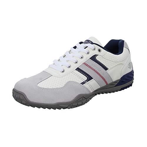 Dockers by Gerli Herren Sneaker Schwarz, Braun, Grau, Weiß, Natur, Schuhgröße:EUR 41, Farbe:Weißtöne