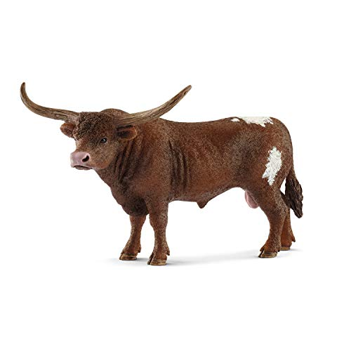 SCHLEICH Farm World  Animal Figurine  Farm Toys for Boys and Girls 3-8 Years Old  Texas Longhorn Bull