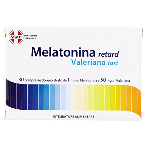 Matt Divisione Pharma Melatonina Retard Valeriana Fast, 12g