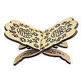 Prom-note Soporte de libros de madera plegable Corán Corán Sagrados sujetalibros Islam, soporte para...