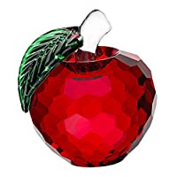 Generic 苹果 クリスタル 置物 彫像 家 デコレーション - 赤