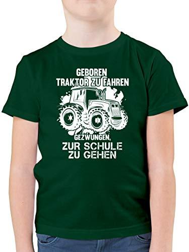 Fahrzeuge Kind - Geboren um Traktor zu Fahren - 152 (12/13 Jahre) - Tannengrün - F130K - Kinder Tshirts und T-Shirt für Jungen