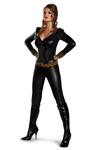 Disguise Women's Marvel Black Widow Bustier Costume, Black, Small/4-6