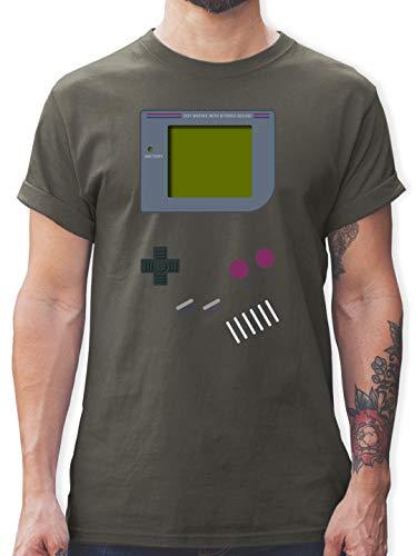 Nerds & Geeks - Gameboy - 3XL - Dunkelgrau - Retro t Shirts Damen - L190 - Tshirt Herren und Männer T-Shirts