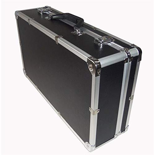 Gereedschapskist Aluminium Tool Case koffer Toolbox File Box slagvaste beveiliging Case Apparatuur Camera Case Met Schuim toolbox 510x280x135mm Zwart