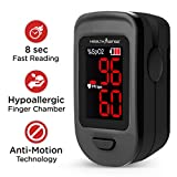 HealthSense FP900 Accu-Beat Finger Tip Pulse Oximeter & SpO2 Blood Oxygen Saturation Monitor with...