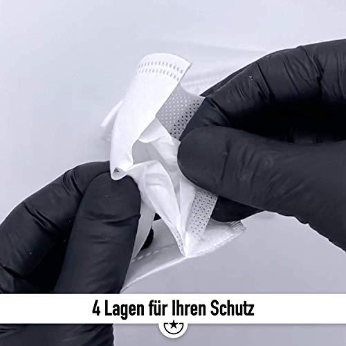Mund und Nasenschutz [10x] FFP2 Maske – DEKRA geprüfte Mundschutz Maske einweg Atemmaske, Maske EINZELVERPACKT, Atemschutzmaske ohne Ventil FFP2 Mundschutz - 2