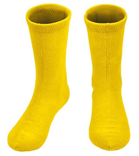 Women's Hiking Fleece Warm Boot Socks Comfortable Military Liner, Yellow, Medium