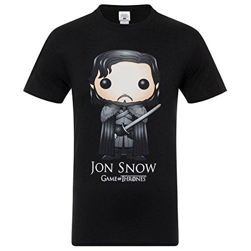 Juego de tronos - Camiseta oficial para hombre - Lannister / Stark / Targaryen / Jon Snow - Dorado - XL
