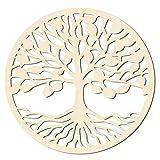 Decoración del hogar de arte de geometría sagrada Árbol de la vida en decoración de paredes de madera Decoración de yoga de arte de pared de para interior y exterior dormitorio salón 1 piezas