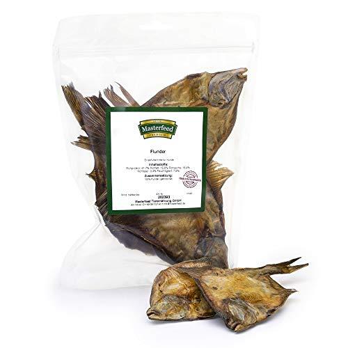 Masterfeed Flunder Fisch für Hunde - Getrocknet - 100% Natürlich Größe 250 g