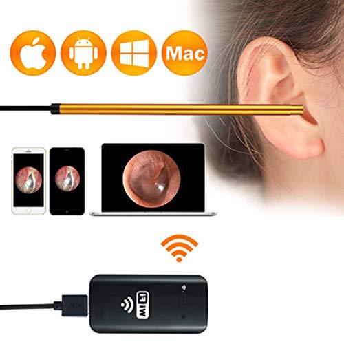 AA-SS-Ear Wax Pick Remover Extractor de succión con Cera en el oído Cuchara para el oído Visual Oreja de artefacto Oreja de 30 W Oído en Android Enet endoscopio ENT para Apple Android