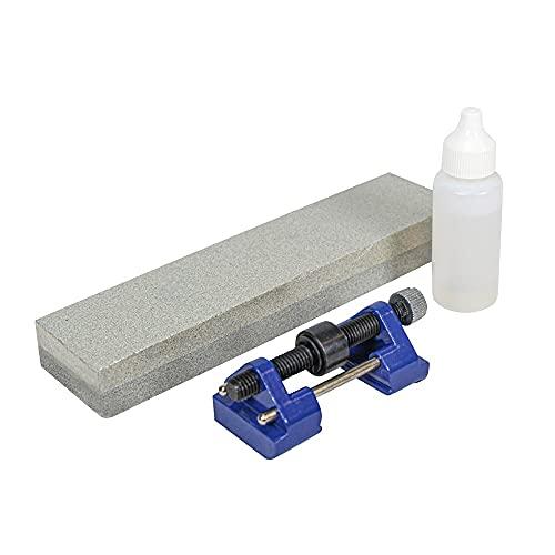 Faithfull OS8CHG Kit pierre à huile et guide 20 cm (Import Grande Bretagne)