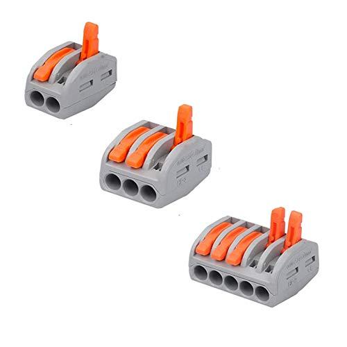 40 Stück Kabelverbinder Leiter Kabelverbinder, Leiter Kabelverbinder, Elektrische Anschlussblöcke, für Feste, Verseilte Und Flexible Kabel