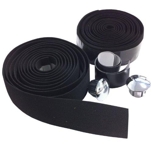 VeloChampion Eva Lenker mit Endkappen (schwarz) Lenkerband