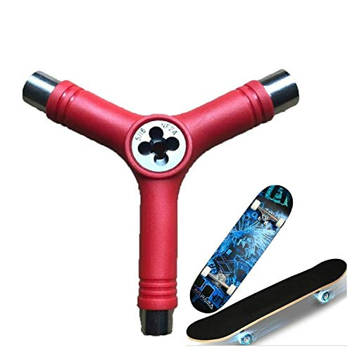 Wei Hongyu 3 PCS Skateboard Repair Tool Y Forme Spanner Porte-Outil (Vert) (Couleur : Red)