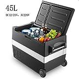 lunch box 45L 12V / 24V Auto-Refrigerador Mini Refrigerador Portátil Compresor del Refrigerador del Coche Refrigerador para Autocaravanas, Campamentos, Viajes, Eventos Deportivos