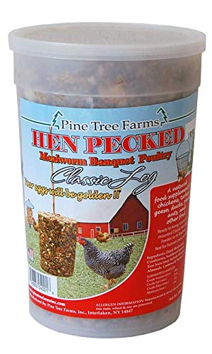 12 Pack of Pine Tree Farms Hen Pecked Mealworm Banquet Poultry Seed Logs
