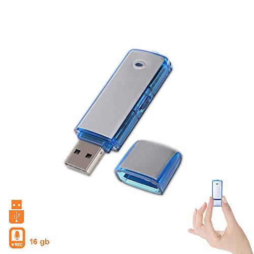 Preisvergleich Produktbild 1neiSmartech Pen Drive Usb-Speicherstick,  16 Gb,  Mini Audio,  Diktiergerã¤T Flash,  Mikro-Spion,  Wanze.