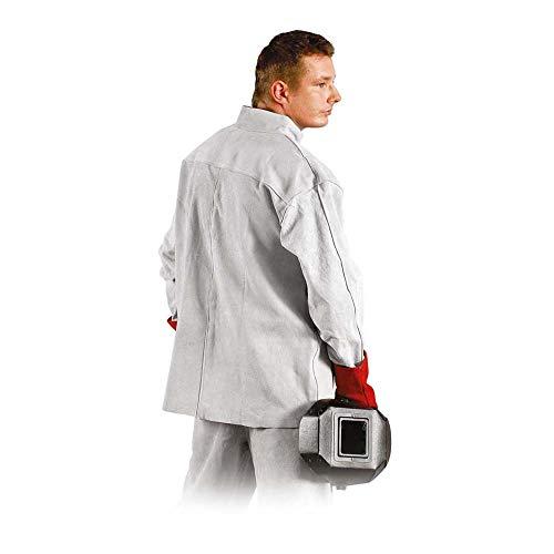 Reis KSB Indianex Lederschutzjacke für Schweißer, Hellgrau, Uni (A: 170-182 B: 112-126) Größe