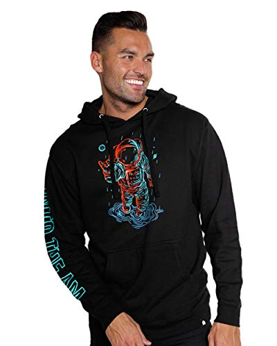 INTO THE AM Universal Love Graphic Pullover Hoodie (Black, Medium)