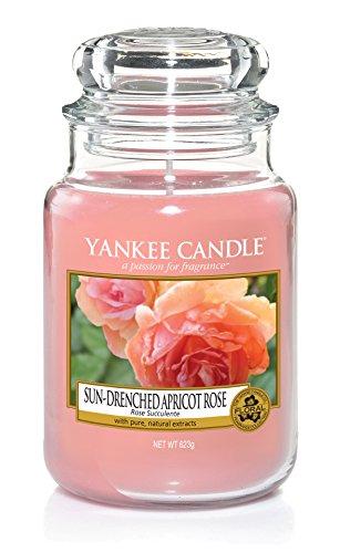 Yankee Candle große Duftkerze im Glas, Sun-Drenched Apricot Rose, Brenndauer bis zu 150 Stunden