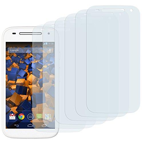 mumbi Schutzfolie kompatibel mit Motorola Moto E 2. Generation Folie klar, Bildschirmschutzfolie (6x)
