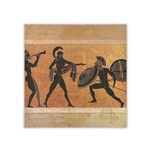 Schwarze Keramik Altgriechische Mythologie Halstuch Schals Für Frauen Damenmode Muster Damen Schals Gefühl Frauen Schals 35x35 Zoll