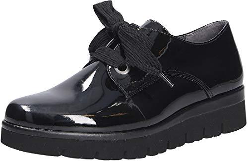 Gabor Damen Sneaker, Frauen Low-Top Sneaker,Comfort-Mehrweite,Optifit- Wechselfußbett, straßenschuhe Strassenschuhe Low-top,schwarz,39 EU / 6 UK