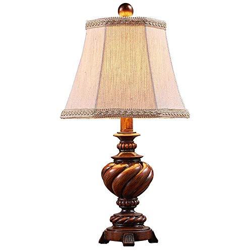 Lámpara de escritorio Lámpara de mesa de resinaLámparas de leer el escritorio con el lino de la tela de sombraAmérica Lectura retro Mesilla de noche de la lámpara de oficina dormitorio sala de