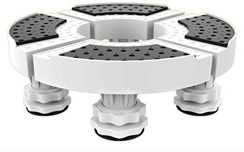 CCLLA Base apparecchio Base climatizzata Staffa Tonda Armadio Lavatrice Supporto Rack per asciugatrice Lavatrice E Frigorifero 4 Piedi robusti Asciugatrice a Carrello Universale