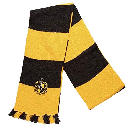 Harry Potter Hufflepuff House Crest Acrylic Knit Scarf