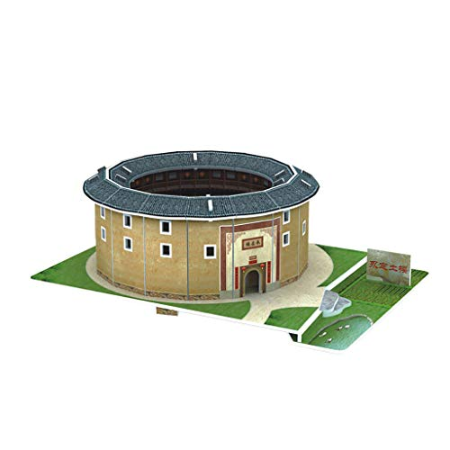 jieGorge 3D Toy Puzzle DIY House Villa Kids Boys Girls Educational House Paper Puzzle, Toys and Hobbies (K)