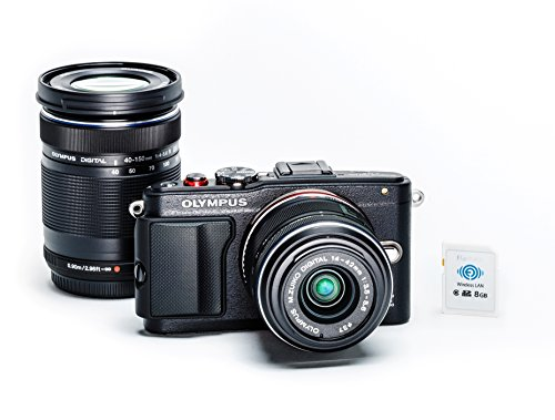 Olympus PEN E-PL6 Two Lens Kit + FlashAir Memory Card