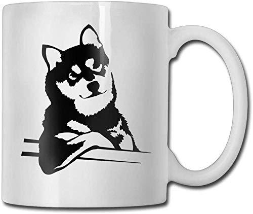 Tazze da caffè rilassanti Husky Black 11 Oz Regalo novità Tazza da tè in ceramica Tazza da caffè 11oZ il regalo perfetto per la famiglia e gli amici