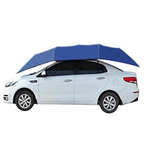 HaroldDol Auto-tent, draagbaar, opvouwbaar, daktent, marineblauw, beschermt tegen UV-stralen, zon, water, wind, sneeuw en voorwerpen