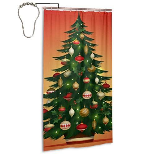 Weihnachtsgruß Neujahr Familientreffen Baum Vorhänge Für Badezimmerfenster Mit 12 Haken Duschvorhang Badezimmer Maschinenwaschbar Wasserdicht Badezimmer Duschvorhang Für Zuhause Spa Hotel Badezimmer