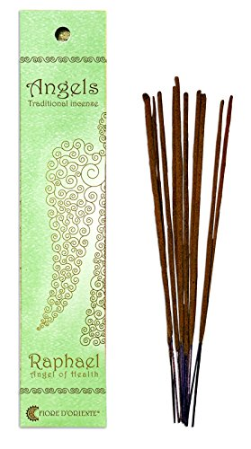Fiore D 'Oriente Angeli di Raffaello in bambù imballaggio, Verde, Multicolore, Confezione da 10