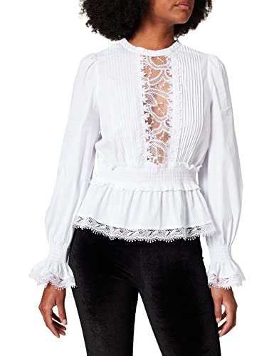 Fracomina FR21WT1012W40801 Blusas, Blanco, M para Mujer