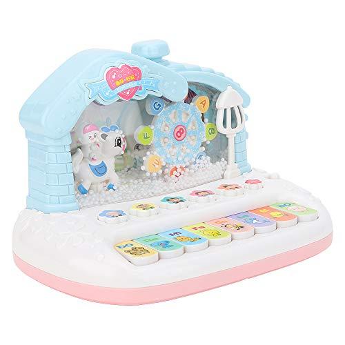 Juguete de Piano de plástico, Mini Teclado eléctrico Luz de Sonido Simulación de Copo de Nieve Instrumento Musical para niños(Piano)