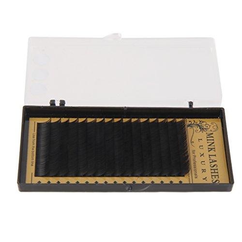 Faut Cils Individuel Extensions de Cils en Fibre Synthétique Noir 12mm